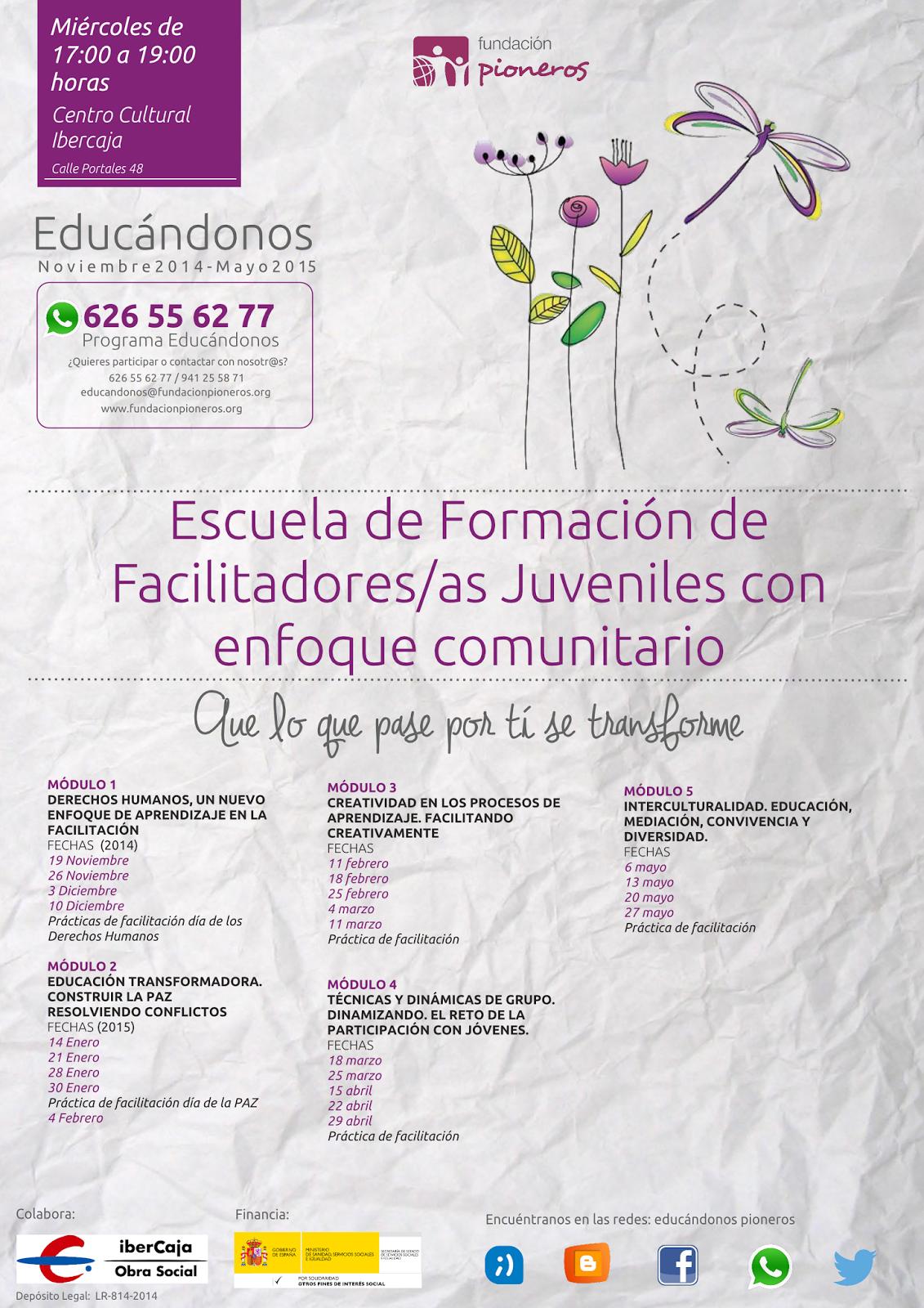 Cartelescuelafacilitadoreseducandonos2014-2015