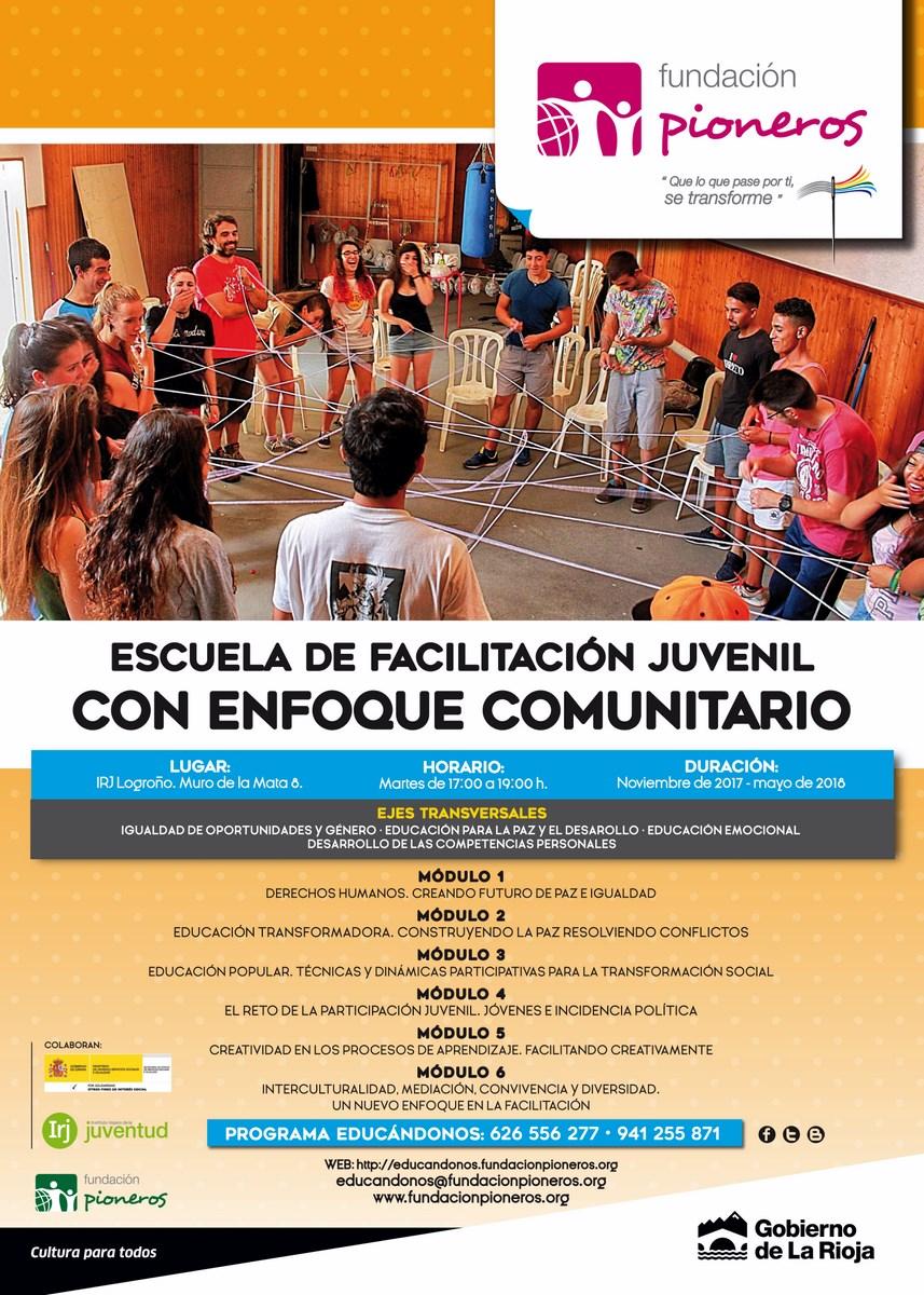 Cartel de la Quinta Edición de la Escuela de Facilitación Juvenil - Logroño-