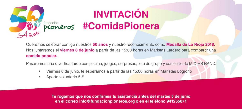 Invitacion #ComidaPionera